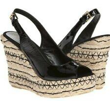 Ralph Lauren Talya Wedge Sandals black  Patent Leather Sz 10