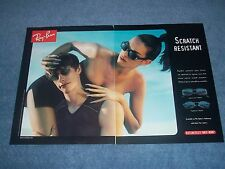 """1998 Ray-Ban Sunglasses 2pg Ad """"Scratch Resistant"""" Undercurrent HighStreet"""