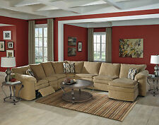 NEW REMY Living Room Chenille Reclining Sofa Couch Chaise Sleeper Sectional  Set