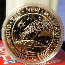 KIRIBATI PROOF 10 DOLLAR COIN 2000 MILLENNIUM HOPE EARTH ,SUN & STARS BLESSED