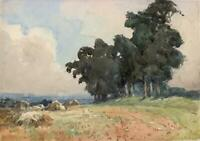LUCY LADY HUME-WILLIAMS (1862-1948) Watercolour Painting ENGLISH LANDSCAPE 1939