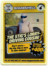 Bombshell #424 Top Gear Turbo Challenge Super Rare Trade Card (C362)