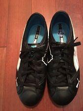 PUMA BLACK /Aqua /White LACE UP Driving Shoes WOMENS 7.5; EUC-Clean