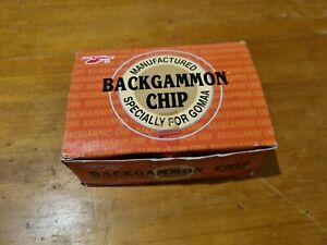 Backgammon Chip Set And Dice gaming gamers pieces vintage large