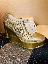 1245ffef9962 Authentic Richmond High Wedge Shoes Gold 37