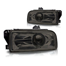 1992-1998 BMW E36 M3 3 Series Fog Lights Smoke Lens Projector Front Lamps PAIR