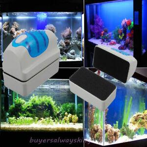 Magnetic Clean Brush Aquarium Fish Glass Tank Algae Cleaner Scrubber Float S
