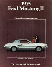 Ford Mustang II 1975 USA Market Sales Brochure Hardtop Ghia 3-dr Mach 1