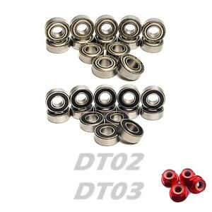 Bearing Set for TAMIYA DT-03 DT03 14 Bearings NEO FIGHTER 58587 Hop up Upgrade