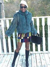 New Designer Bloomingdale's Blue color fox Fur Coat jacket Stroller Sz 6
