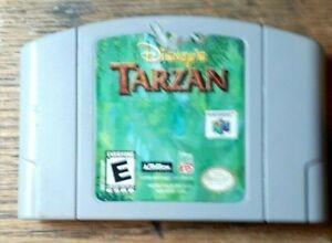 Disney's Tarzan (Nintendo 64, 2000) Good Shape  Authentic