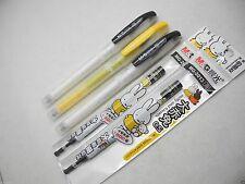 12 pens+10 refills M&G Miffy MF-2012 0.5mm fine roller ball pen with cap Black