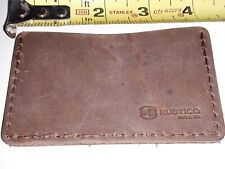 Marlboro Leather 2 Pocket Hand Stitched Card Wallet Rustico Brown Made in USA