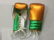 Customized Any Logo or Name like Win,ing , G,ant CowHide Leather Boxing Gloves