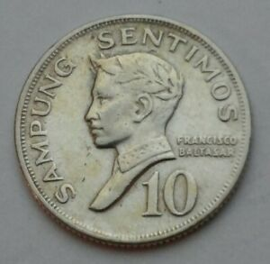 Philippines 10 Sentimos 1968. KM#198. Ten Cents coin. Dime.