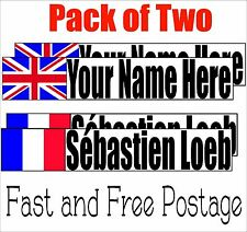 Race Car Drivers Personalized Name Sticker Formula Sprint Rally Car Decal Racing