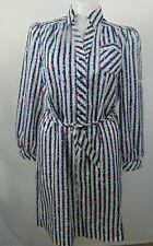 Vintage Schrader Sport Womens Shirt Dress Button Front Belted Long Sleeve Sz L