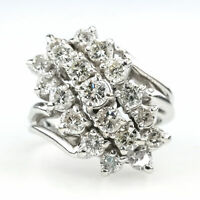 2.00ctw SI2-I1/H-I Diamond Accented Waterfall Statement Ring in 14K White Gold