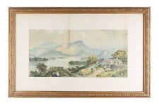 """"""" Sans titre """" (Lakeside Cottage) Lithographie par Edwin A Penley,encadré"""