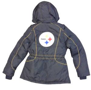Womens NFL Football Team Apparel Reebok Pittsburgh Steelers Winter Jacket Coat