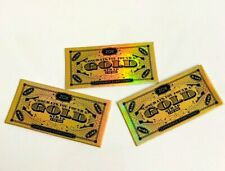 *!*!* ZOX *!*!* 3 GOLD CARDS to the highest bidder