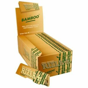 RIZLA Bamboo Regular/Standard Size Ultra Thin Cigarette Smoking Rolling Papers