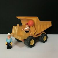 """Vintage Fisher Price Construction Dump Truck 14""""L With Org Drivers Little People"""