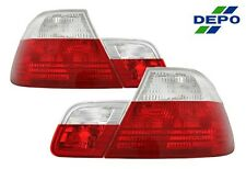 99-03 BMW E46 3-Series Coupe 2D Red / Clear Tail Lights DEPO 00 01 02 4pcs set