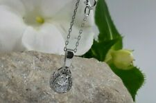 AAA QUALITY STERLING 925 SILVER HANDMADE JEWELRY WHITE TOPAZ PENDANT & NECKLACE
