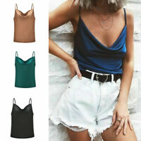 CAMI Camisole with Built in Shelf Bra Adjustable Spaghetti Strap Layer Tank Tops