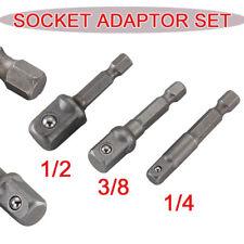 """Practical 1/4""""3/8""""1/2"""" Socket Adaptor Set for Impact Drivers Bosch Dewalt Makita"""