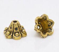 Lot 10 Coupelles / caps / Calottes 10mm Doré perles breloques 10 mm dore