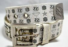 Jetpilot Men Leather Belt White  M size