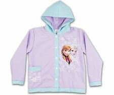 Disney Frozen Rain Coat Jacket Slicker Ana & Elsa Purple Blue hood NWT Sz 4T $40