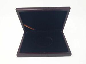 Luxus HOLZ Münzkassette für 1 Münze bis 75 mm, gebraucht (Z2489)