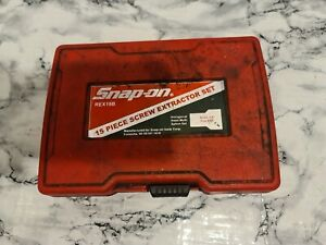 """SNAP ON REX15B 15 Piece Screw Extractor Set Sizes 1/8"""" to 9/16"""""""
