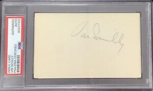 Vin Scully Signed Index Card Baseball Autograph Dodgers HOF Announcer PSA/DNA