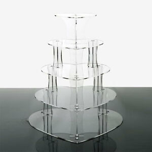 5 Tier Heart Acrylic Cupcake Stands Cup Cake Stand Cheerico Cupcake Stands