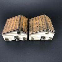 VTG Franklin Grove Historical Society Painted SALTBOX House Salt Cellar Replica!