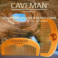 Handcrafted Wood Mustache and Beard Comb by Caveman®  All Hair