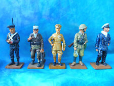 """5 soldats de plomb Delprado -  """"Deux guerres mondiales"""" BU 6 - lot 2"""