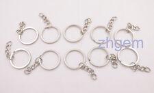 Lots 10 pcs 25mm  Split Rings Key Chains flat circle Key rings  stainless iron