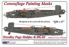 AML Models 1/72 HANDLEY PAGE HALIFAX B.Mk.III Camouflage Paint Mask Set