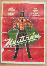 NEUTRON EL ENMASCARADO Spanish movie poster MEXICAN WRESTLING WOLF RUVINSKIS