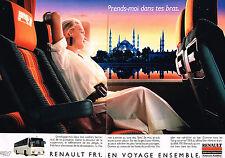 PUBLICITE ADVERTISING 025  1987  RENAULT FR1  autocars autobus  (2p)
