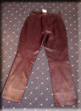 Prada Eggplant Lambskin Leather Pants Size Medium 6 8 Efurs4less