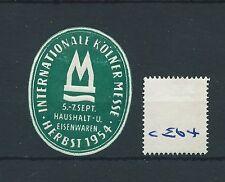 wbc. - CINDERELLA/POSTER - CE64 - EUROPE- INT. KOLNER MESSE, HERBST - 1954