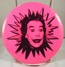 """The Joker 1960's Six inch Pinback with pop-out Stand """"Hot Pink"""""""