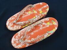 JAPANESE Kimono Woman Zori Geta Sandals RED 17cm children (77)