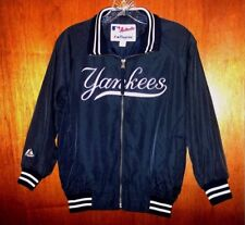 New York Yankees MLB Light Lined Jacket MAJESTIC Sewn Jersey Shirt Youth Boys S